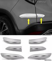 Jogo Protetor Parachoque Dianteiro e Traseiro Honda HRV Com Friso Cromo - Flash