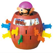 Jogo Pula Pirata com Barril Brinquedo Interativo Infantil - Futuro Kids