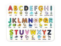 Jogo Quebra-Cabeça - Alfabeto Ilustrado Pedagógico 3D - Brinquedo Educativo Montessoriano - Elefante Colorido - Brinquedos Educativos