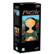 Jogo Quebra Cabeça Puzzle Releitura Mona Lisa 260 Peças Nig -