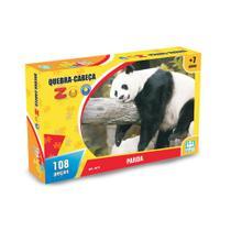 Jogo Quebra Cabeça Zoo Panda 108 Peças Nig -