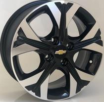 Jogo roda aro 14 GM Onix Aro Preta diamantada Furação 4x100 - Krmai
