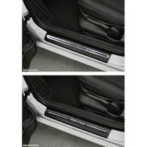 Jogo Soleira Premium Elegance Chevrolet Montana 2011 2012 2013 2014 2015 2016 2017 2018 2019 - 2 Portas ( Vinil + Resinada 4 Peças ) - Np Adesivos