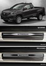 Jogo Soleira Premium Elegance Fiat Strada 2020 2021 Cabine Simples - 2 Portas ( Vinil + Resinada 8 Peças ) - Np Adesivos