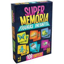 Jogo Super Memória Figuras Infantis 108 Cartelas Grow -