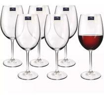 Jogo Taça De Vinho Bohemia Cristal Titanium 580 Ml Cx Com 6 -