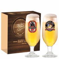 Jogo Taças Cerveja Barcelona Decorado 300ml 2 Peças Ruvolo -