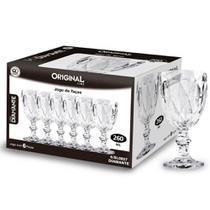 Jogo taças de água Original Line Diamante 260ml 6 peças -