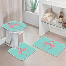 Jogo Tapetes para Banheiro Flamingos One - Love Decor