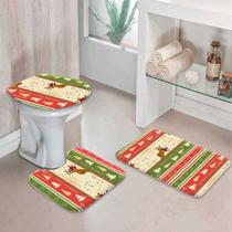 Jogo Tapetes para Banheiro Merry Christmas - Love Decor