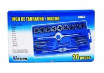 Jogo Tarraxa Cossinete Macho 20 Peças Pente Rosca  Mecânico Western -