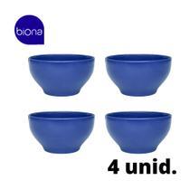 Jogo Tigela Lisa Biona Cereal Azul  600 ml - 4 Unidades -