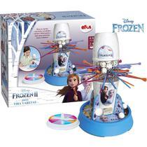 Jogo Tira Pega Varetas Frozen 2 Menina Raciocínio Equilíbrio Brinquedo Novo Azul Divertido Infantil Elka -