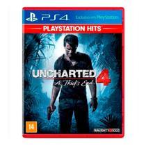 Jogo Uncharted - A Thiefs End 4 - (Lacrado) (Hits) - PS4 -