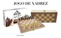 Jogo Xadrez Dama Peças E Tabuleiro Em Madeira MD 35 X 35cm - Coday