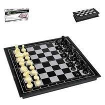 Jogo Xadrez Tabuleiro Dobrável Magnético Peças Com Imã 19x19 6701 - Amigold