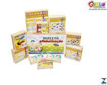 Jogos brinquedos educativos maleta alfabetização 10 jogos - Carlu