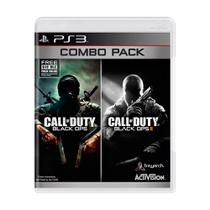 Jogos Call Of Duty Cod Black Ops 1 E 2 Combo Pack Para Ps3 - Activision