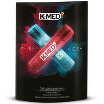 K-MED Fire e Ice Gel Lubrificante Íntimo c/ 2 Frascos c/40g -