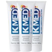 K-med Gel Lubrificante Intimo Cimed 3x100g sex shop Kmed Prazer Sexual -