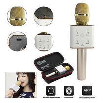 Karaokê Portátil Bluetooth Microfone Bateria para Celular Gravador - Thata