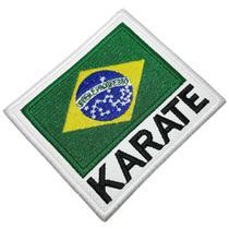 Karatê bandeira Brasil patch bordado passar a ferro costurar - Br44