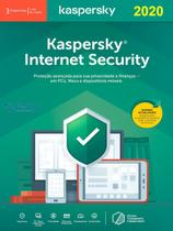 Kaspersky Internet Security 3 Dispositivos 1 ano Versão 2020