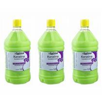 Kelma Keratina S/ Sal Shampoo 1l (Kit C/03) -
