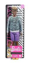 Ken Fashionistas 153 Negro Com Bermuda Roxa GHW69 (15450) - Mattel