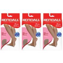 Kendall 1672 Meia 3/4 Média Compressão Mel M (Kit C/03) -