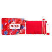 Kenzo Flower By Kenzo Kit  Perfume EDP Feminino + Body Milk + Necessaire -