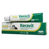 Keravit - Pomada oftálmica antibiótica e anti-inflamatória - Vetnil (5 g) -