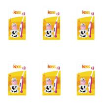 Kess Steps Escova Dental + Capa Protetora (Kit C/06) -