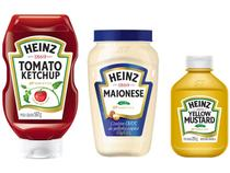 Ketchup Tradicional Heinz 567g + Mostarda Amarela  - Tradicional 255g + Maionese Tradicional 400g