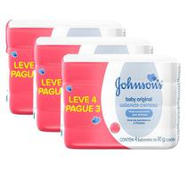 Ki 3 Pacotes Sabonete em Barra Johnson's Baby 80g Leve 4 Pague 3 -