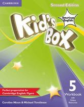 Kids box american english 5 wb with online resources - 2nd ed - Cambridge university