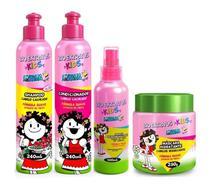 Kids Cabelo Cacheado Shampoo + Condicionador 240ml + Spray 150ml + Máscara 250g Bio Extratus -