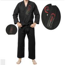 Kimono de Jiu-Jitsu Adulto Preto Rythmoon -