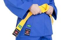 Kimono De Judo Infantil Azul + Faixa Branca Básica - Shizen - Kimonos Shizen