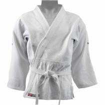 Kimono Dragão Adulto Judô Trançado Brasil Branco -
