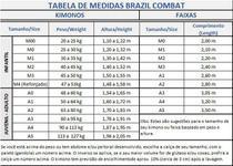Kimono Jiu Jitsu Brazil Combat Infantil Xtra Lite Branco -