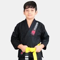 Kimono Jiu Jitsu Koral Infantil Reforçado Preto -
