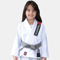 Kimono Jiu Jitsu Koral Infantil Trançado Branco-M0 -