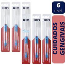 Kin - kit 6 escovas dental gengivas micro fine -