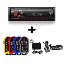 KIT  01 MP3 Player Pioneer MVH-S118UI + 01 Controle Longa Distância SX2 Stetsom - Pioneer E Stetsom