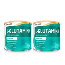 Kit 02 Aminoácido L-Glutamina 300g 100% Pura Loja Maxinutri -
