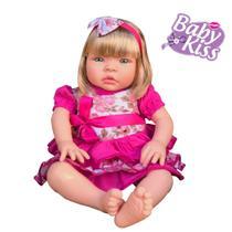 Kit 02 Boneca Bebe Baby Kiss Estilo Reborn Loira - Sid-Nyl