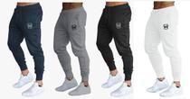 Kit 02 calças de moletom masculina slim sport academia wooks -