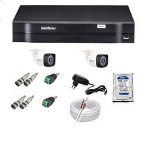 Kit 02 Câmera de Segurança, DVR 4 Canais Intelbras MHDX 1104 -