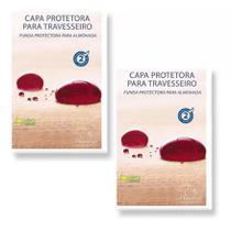 Kit 02 Capas Protetora Travesseiro Impermeável Plooma Soft com Zíper -